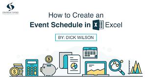 Make Schedule On Excel How To Create An Event Schedule In Excel