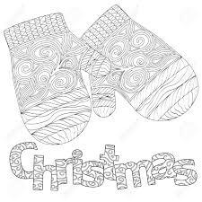 大人の塗り絵グリーティング カード白い背景に分離された禅アートのクリスマスのパターン