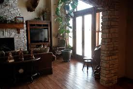 hardwood floor family room