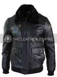 aviatrix mens leather jacket fur jacket