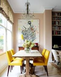 rita konig s charming london home yellow dining chairspink dining roomsleather