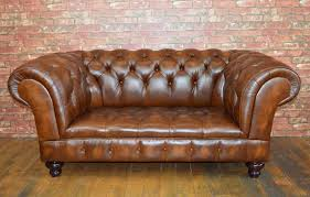 vine chesterfield range 2 seat sofa finished in traditional antique tan leather
