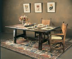 rustic dining room tables. Image Of: Rustic Trestle Dining Table Photos Room Tables