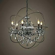 iron orb crystal chandelier lighting extraordinary foucaults