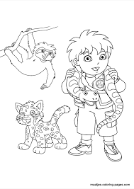 Small Picture Go Diego Go Coloring Pages chuckbuttcom