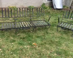 wrought iron garden furniture. Vintage Cast Iron Patio Set. Beautiful Wrought Outdoor Furniture . Garden