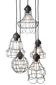 cage lighting pendants. wire fivelight pendant lighting ceiling fixtures cage pendants