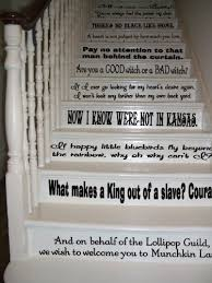 amazon wizard of oz assorted quotes set black vinyl stairs or wall decal by gmddecals dorothy baum room party housewarming gift home decor home  on wizard of oz vinyl wall art with amazon wizard of oz assorted quotes set black vinyl stairs or