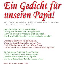 Gedicht Geburtstag Vater 60