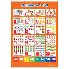 100 Chart Poster Details About A3 Numbers 1 100 Poster Maths Wall Chart
