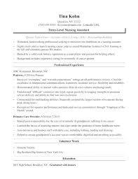Sample Resume Of Nursing Assistant Nurse Aide Resume Nursing ...