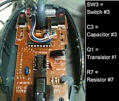 car wash electronic repair service by industrial repair group the component side of a pcb in a computer mouse some examples for common components and their reference designations on the silk screen