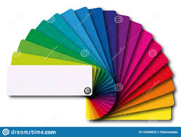 Presentation Of A Full Range Of Colors On A Color Chart