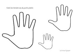 Kleurplaat Hand