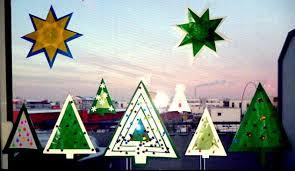 Weihnachtenbasteln Fensterdeko Aus Transparentpapier