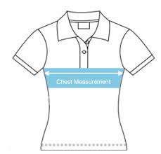 Female Polo Shirt Size Chart