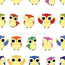 Owl Pattern Unique Seamless Owl Pattern Stock Vector Illustration Of Seasons 48