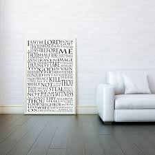 the ten commandments religious decorative arts prints posters wall art print poster any size black and white poster