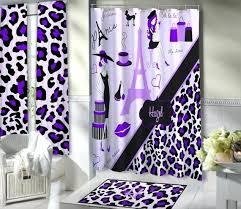 parisian shower curtain paris themed shower curtain hooks