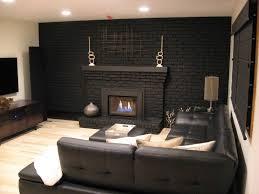black painted brick fireplace ideas