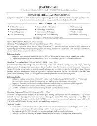 Awesome Sample Chemical Engineering Resume Resume Format Web