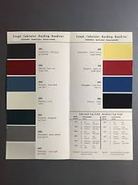 Details About 1960 Porsche Factory Issued Color Chart Folder Brochure Rare Awesome Xlnt