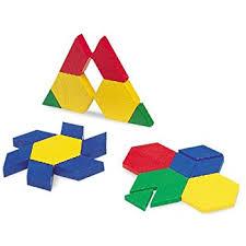 Pattern Blocks Enchanting Amazon Learning Resources Plastic Pattern Blocks 48cm Set of