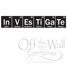 Science Wall Decal Investigate-Periodic Table sticker
