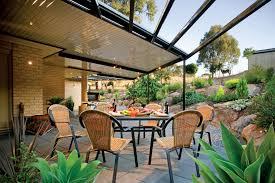 outback gable verandah patio  images about stratco outback flat roof patio verandah pergola or carp
