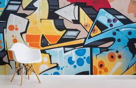 graffiti brick wall wallpaper for
