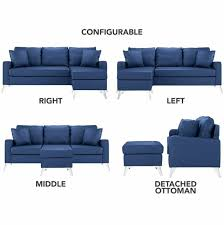 bonded leather sectional sofa small