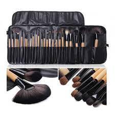 lydia 24pcs eco friendly wooden makeup brush set