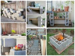 concrete block furniture ideas. Artistic Decor Cinder Block Garden Ideas. Garden. Ideas Concrete Furniture S