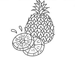 Small Picture A Juicy Slice of Pineapple Coloring Page Download Print Online