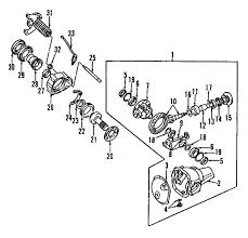 parts com® mitsubishi gear kit fr diff partnumber mr124860 2003 mitsubishi montero sport es v6 3 0 liter gas differential