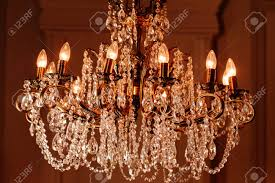 Elegant Light Bulbs Elegant Chandelier With Light Bulbs Close Up Horizontal Photo