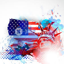 4th Of July American Independence Day Flyer Royalty Free
