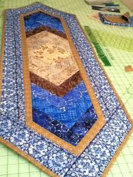 447 best Table runners and place mats images on Pinterest   Hand ... & Table runner for winter. This is a quilt as you go pattern called