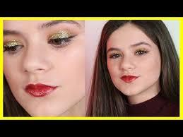04 50 glittery gold new year s eve makeup tutorial kittiesmama