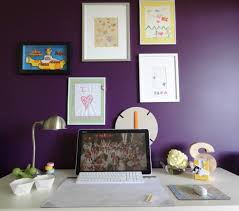 accent office interiors. covey interiors office purple accent wall