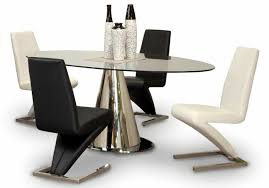 awesome small dining room decoration using pedestal black and white leather dining chair