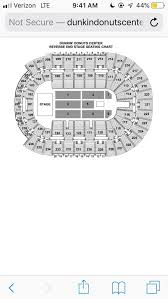 Dunkin Donuts Center Seating Chart What Is The Correct Seating Chart For The Dunkin Donuts