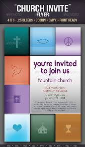 church invitation flyers youre invited church flyer template by d4g graphicriver