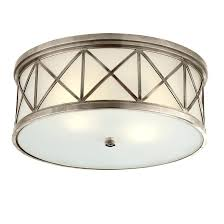 Visual Comfort 2 Light Large Flush Mount With Frosted Glass Jacqueline P . Visual  Comfort ...