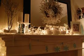 fireplace mantel lighting ideas. All It Took Was A Little Editing Of My \u0027Winter Wonderland\u0027 Christmas Mantel To Create Winter Vignette. Fireplace Lighting Ideas I