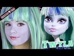 monster high twyla doll costume makeup tutorial for or cosplay kittiesmama