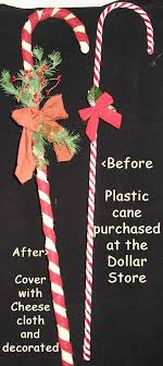 Plastic Candy Cane Decorations Prim candy canes made from dollar store candy canes Tutorials 28
