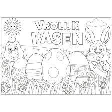 6x Pasen Kleurplaten Placemats Met Stiften Paas Feestwinkel