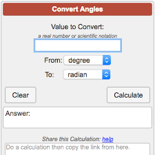 Inches To Degrees Chart Angle Conversion Calculator