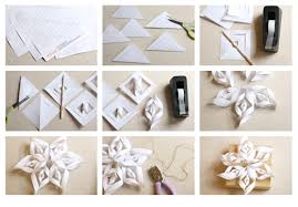 paper snowflakes 3d how to make a paper snowflake printable template harpers
